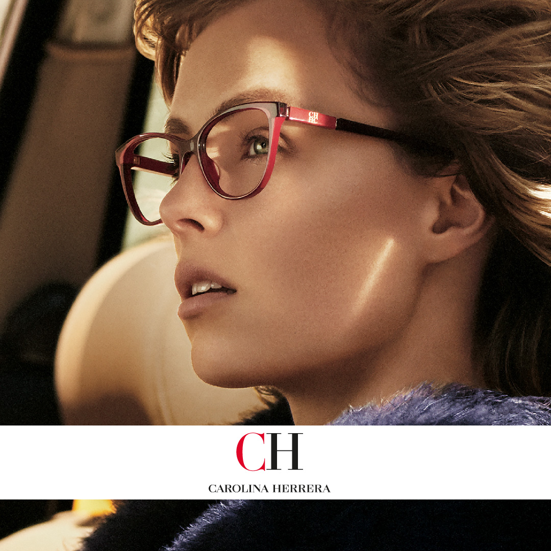 Carolina Herrera showcase unique styles with vibrant colours, available in all our practices.