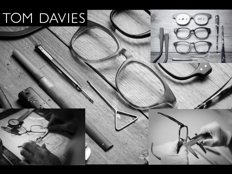 Tom Davies are handmade to your size, fit and colour allowing you to enjoy a truly bespoke and unique pair of specs.